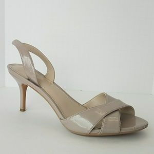 Calvin Klein Nude Patent Leather Slingback